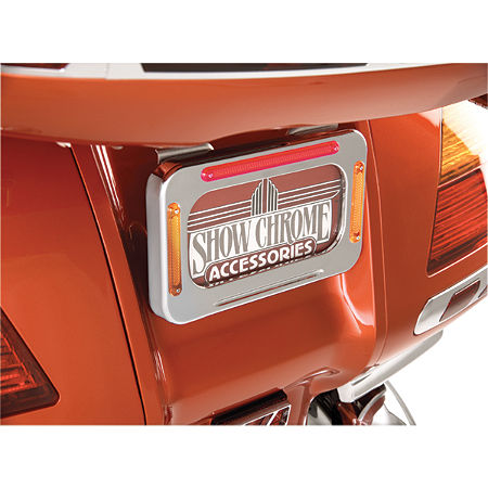 Show Chrome License Plate Holder With LED Brake Light And Turn Signals - Main
