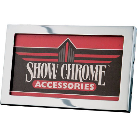 Show Chrome License Plate Holder - Main