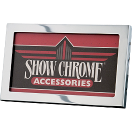 Show Chrome License Plate Holder - BikeMaster Wideview Tube Mirrors