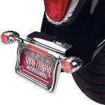 Show Chrome Raised License Plate Holder - Red Turn Signals - Show Chrome Cruiser Products