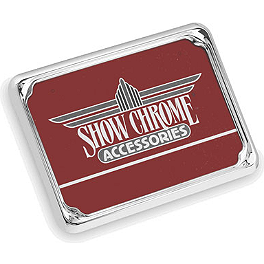 Show Chrome License Plate Trim - British - 2008 Kawasaki Vulcan 2000 Classic - VN2000H Show Chrome Vantage Rear Highway Boards