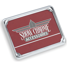 Show Chrome License Plate Trim - Euro - 2008 Yamaha V Star 1100 Custom - XVS11 Show Chrome Mini Driving Light Kit - Contour