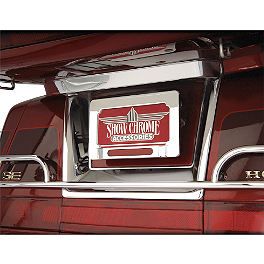 Show Chrome License Plate Trim - 2005 Honda VTX1800C2 Show Chrome Vantage Rear Highway Boards