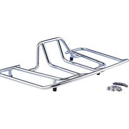Show Chrome Tour Luggage Rack - 1992 Honda Gold Wing Interstate 1500 - GL1500I Show Chrome Luggage Rack With Rubber Insert