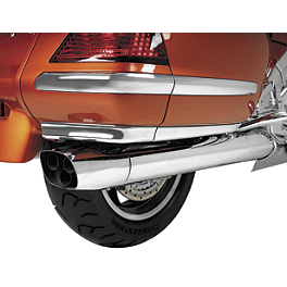 Show Chrome Lower Saddlebag Air Dam Spoiler - Kuryakyn LED Saddlebag Molding - Red Lens