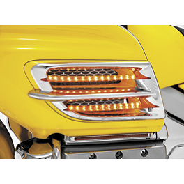 Show Chrome LED Side Fairing Accent Trim - Show Chrome Windshield Garnish - Chrome