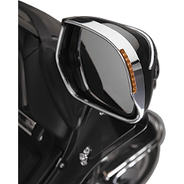 Show Chrome LED Visored Mirror Trim - Amber - 2001 Honda Gold Wing 1800 - GL1800 Show Chrome Lower Wind Deflector - Clear