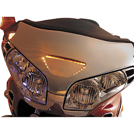 Show Chrome LED Windshield Garnish - 2003 Honda Gold Wing 1800 - GL1800 Show Chrome LED Martini Trunk Molding Insert