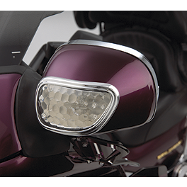 Show Chrome Mirror Back Accent Trim - 2003 Honda Gold Wing 1800 - GL1800 Show Chrome Driver Peg Mounting Bracket
