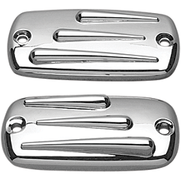 Show Chrome Raised Teardrop Master Cylinder Cover - 1999 Honda Shadow Spirit 1100 - VT1100C Honda Genuine Accessories Round-Tube Chrome Rear Carrier