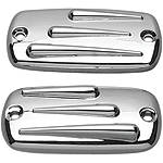 Show Chrome Raised Teardrop Master Cylinder Cover -  Cruiser Controls