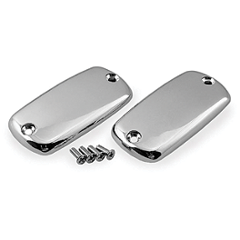 Show Chrome Master Cylinder Covers - Smooth - Show Chrome Front Slider Peg System - Flame