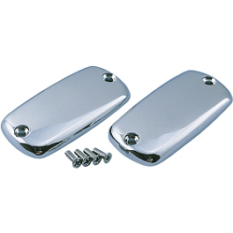 Show Chrome Single Master Cylinder Cover - Smooth - 2003 Honda Shadow Spirit 1100 - VT1100C Show Chrome Slider Brake Pedal - Flame