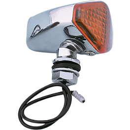 Show Chrome Diamond Marker Light - 2000 Yamaha V Star 650 Custom - XVS650 Show Chrome Slider Brake Pedal - Flame