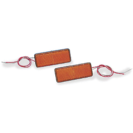 "Show Chrome LED Marker Light 1.25"" X 3.5"" - Amber / Amber - Show Chrome Cable Cover"