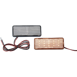 "Show Chrome LED Marker Light 1.25"" X 3.5"" - Amber / Clear - Kuryakyn Pulsating Brake Light Controller"