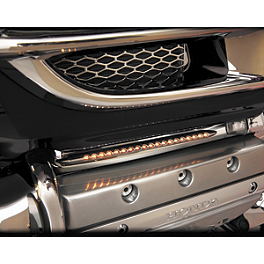 Show Chrome Martini Opera Light Set - Amber - 2007 Honda Gold Wing 1800 Audio Comfort - GL1800 Show Chrome Handlebar Clamp Plugs