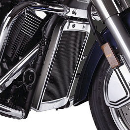 Show Chrome Mesh Radiator Grille - Chrome - 2005 Honda VTX1300S Show Chrome Classic Windshield For Tapered Forks