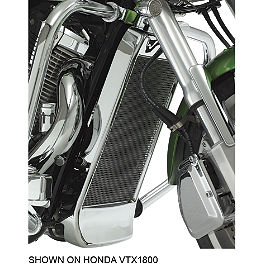 Show Chrome Mesh Radiator Grille - Chrome - 2013 Kawasaki Vulcan 900 Custom - VN900C Show Chrome Vantage Rear Highway Boards