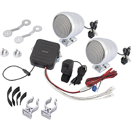 Show Chrome Motorcycle Sound System - J&M Audio Self-Amplified Handlebar Speaker Kit