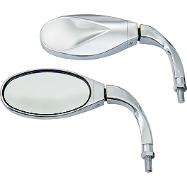 Show Chrome Twisted Cruiser Short Mirrors - Show Chrome Air Cleaner Cover - Free Spirit