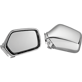 Show Chrome Mirror Units - 1992 Honda Gold Wing Interstate 1500 - GL1500I Show Chrome Slider Brake Pedal - Flame