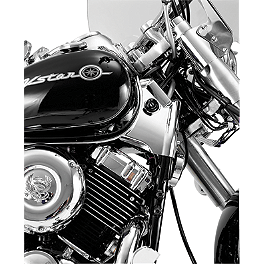 Show Chrome Neck Covers - Chrome - 1999 Yamaha V Star 650 Custom - XVS650 Show Chrome Front LED Turn Signal Conversion Kit