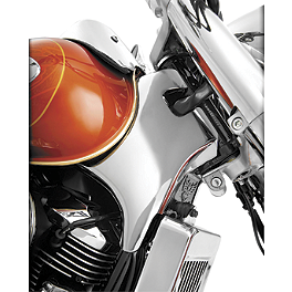 Show Chrome Neck Covers - Chrome - 2008 Honda Shadow Spirit - VT750C2 Show Chrome Front LED Turn Signal Conversion Kit