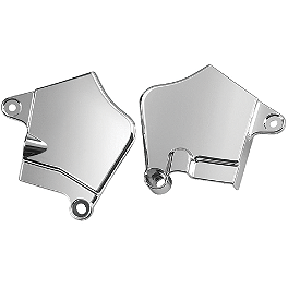 Show Chrome Neck Covers - Chrome - 2007 Kawasaki Vulcan 1600 Nomad - VN1600D Memphis Shades Batwing Fairing Without Mounts