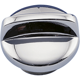 Show Chrome Oil Filler Cap - Baron Billet Grips - Flame