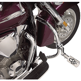 Show Chrome Anti-Rotation Stepped Offset Extensions - 2002 Yamaha V Star 650 Classic - XVS650A Show Chrome Slider Brake Pedal - Flame