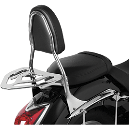 Show Chrome Passenger Backrest - 2010 Yamaha V Star 1300 Tourer - XVS13CT Yamaha Star Accessories Tall Quick Release Windshield