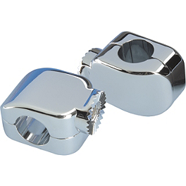 "Show Chrome Anti-Rotation Peg Mount Brackets - 1-1/4"" - Show Chrome Handlebar Riser Caps"