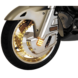Show Chrome Lighted Front Rotor Covers - Show Chrome Sweptback Windshield With Vent - Tinted