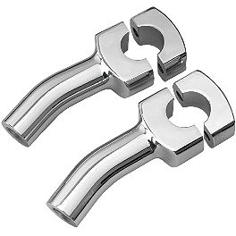 "Show Chrome 4"" Risers Without Bolts For 1"" Bars - Classic - Show Chrome Case Guard Pegs - Teardrop"