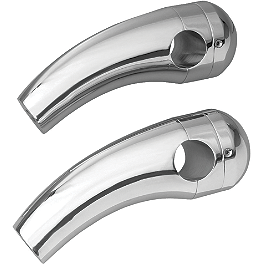 "Show Chrome 4"" Risers Without Bolts For 1"" Bars - Round - Show Chrome Smooth Blade Clutch Lever"