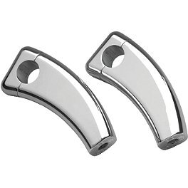 "Show Chrome 4"" Risers Without Bolts For 1"" Bars - Square Cast - Show Chrome Billet Rear Axle Nut Cover"