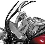 "Show Chrome 4"" Risers Without Bolts For 1"" Bars - Twisted -  Cruiser Controls"