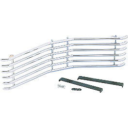 Show Chrome Tubular Radiator Grille - Memphis Shades Standard Height Vented Windshield