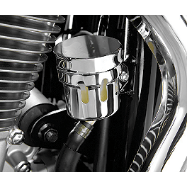 Show Chrome Rear Brake Reservoir Cover - Chrome - 2006 Honda VTX1800S2 Show Chrome Fork Wind Deflector