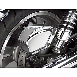 Show Chrome Stepped Rear Caliper Cover - 2007 Kawasaki Vulcan 900 Classic LT - VN900D Show Chrome Front LED Turn Signal Conversion Kit