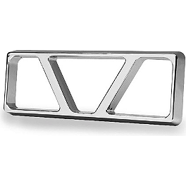 "Show Chrome Universal Reflector Grilles - 3.25""X1.25"" - Show Chrome Driveshaft Cover - Teardrop"