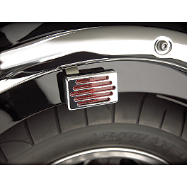 Show Chrome Reflector Grilles - 2008 Kawasaki Vulcan 2000 Classic LT - VN2000J Show Chrome Front LED Turn Signal Conversion Kit