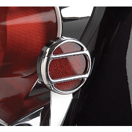 Show Chrome Reflector Grilles - 2008 Suzuki Boulevard S50 - VS800 Show Chrome Front LED Turn Signal Conversion Kit