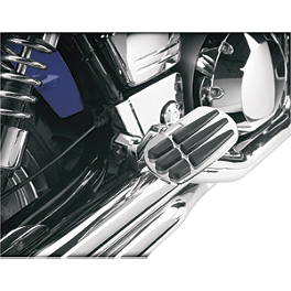 Show Chrome Vantage Rear Highway Boards - 2006 Honda VTX1800C2 Show Chrome Smooth Blade Brake Lever