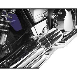 Show Chrome Vantage Rear Highway Boards - 2010 Kawasaki Vulcan 900 Classic - VN900B Cobra Passenger Floorboards - Chrome