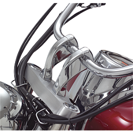 "Show Chrome 4"" Risers Without Bolts - Twisted - 2000 Yamaha V Star 650 Custom - XVS650 Show Chrome Slider Brake Pedal - Flame"