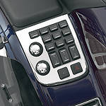 Show Chrome Radio Panel Accent - Show Chrome Cruiser Dash and Gauges