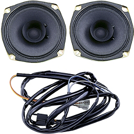 "Show Chrome 4-1/2"" 1-Way Rear Speakers - Show Chrome Rear Speaker Kit With Harness"