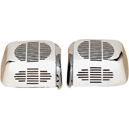 Show Chrome Rear Speaker Grilles - Show Chrome Rear Speaker Kit With Harness